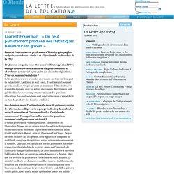 874.n°874 - Laurent Frajerman: «On peut parfaitement produire des statistiques fiables sur les grèves»