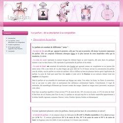 I-Le parfum : de sa description à sa composition : Le Parfum