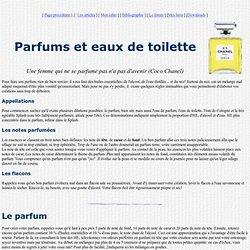 Parfums et eaux de toilette