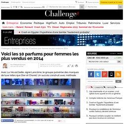 Voici les 10 parfums pour femmes les plus vendus en 2014 - 12 janvier 2015