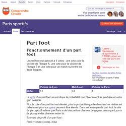 Paris sportifs foot