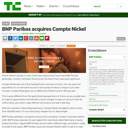 BNP Paribas acquires Compte Nickel