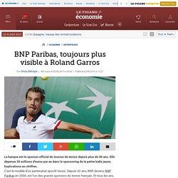 BNP Paribas, toujours plus visible à Roland Garros
