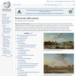 Paris in the 18th century