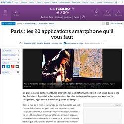 Paris : les 20 applications smartphone qu'il vous faut