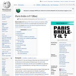 Paris brûle-t-il ? (film)