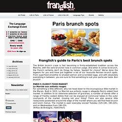 Paris brunch spots - Franglish