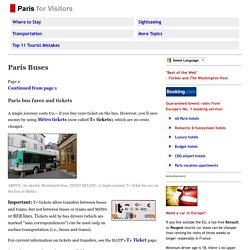 Paris Bus Fares and Tickets