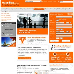 easyBus - Paris CDG Airport Transfers