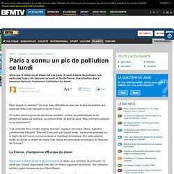 Planète : Paris a connu un pic de polllution ce lundi