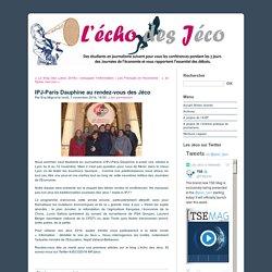 IPJ-Paris Dauphine au rendez-vous des Jéco - Le blog des Jéco