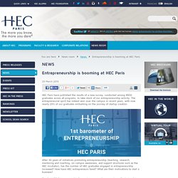 Entrepreneurship is booming at HEC Paris