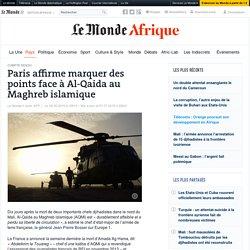 Paris estime marquer des points face à AQMI