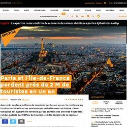 Paris et l'Île-de-France perdent près de 2 M de touristes en un an