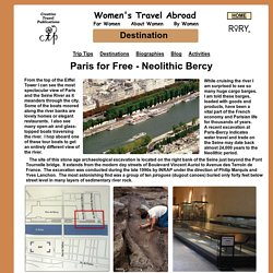 Paris for Free - Neolithic Bercy