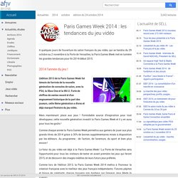 Paris Games Week 2014 : les tendances du jeu vidéo
