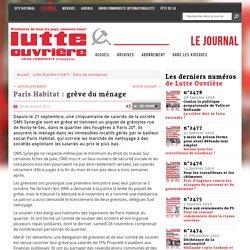 Paris Habitat : grève du ménage