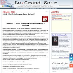 23/07 PARIS - Manifestation pour Gaza - Collectif