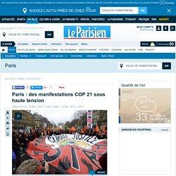 Paris : des manifestations COP 21 sous haute tension