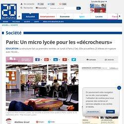 Paris: Un micro lycée pour les «décrocheurs»