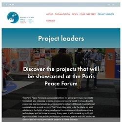 Paris Peace Forum Project Leaders