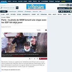 Paris : la photo de NKM fumant une clope avec les SDF fait déjà jaser - Municipales 2014