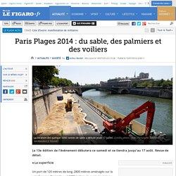 Paris Plages 2014 : du sable, des palmiers et des voiliers