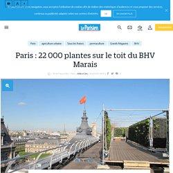 Paris : 22 000 plantes sur le toit du BHV Marais - Le Parisien