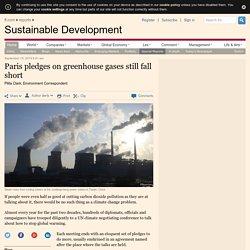 Paris pledges on greenhouse gases still fall short