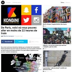 De Paris, voici où vous pouvez aller en moins de 22 heures de train