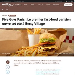 Five Guys Paris : Le premier fast-food parisien ouvre cet été à Bercy Village