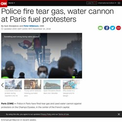 Paris protests tear-gassed by police