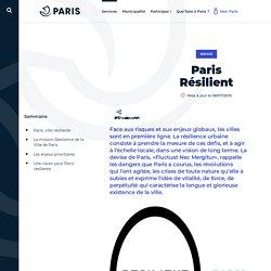 Paris Résilient - Ville de Paris - site internet