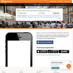 Dismoio? - Ton guide personnalis?: Restaurants, H?tels, Shopping