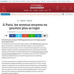 Immobilier : À Paris, les revenus moyens ne peuvent plus se loger