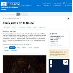 Paris, rives de la Seine - UNESCO