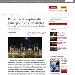 Paris: pas de rupture du jeûne pour les journalistes