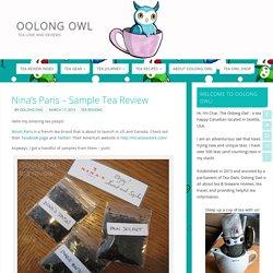 Nina's Paris - Sample Tea Review - Oolong Owl