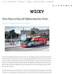 Paris Hop on Hop off Sightseeing Bus Tours