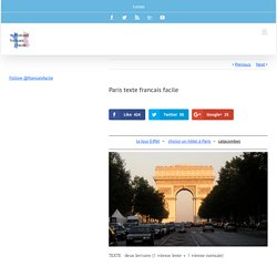 paris texte francais facile