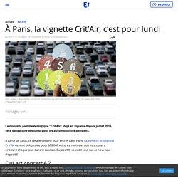 À Paris, la vignette Crit'Air, c'est pour lundi