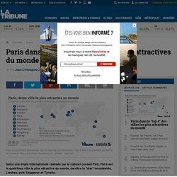 """Paris dans le """"top 4"""" des villes les plus attractives du monde"""