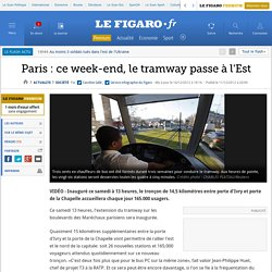 France : Ce week-end, le tramway passe à l'Est