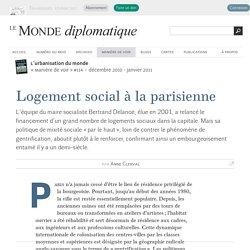 Logement social à la parisienne, par Anne Clerval (Le Monde diplomatique, décembre 2010)