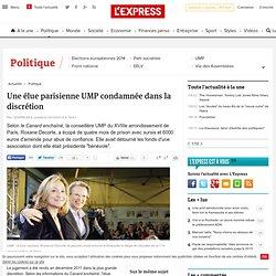 Une élue parisienne UMP condamnée dans la discrétion