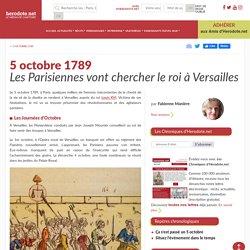 5 octobre 1789 - Les Parisiennes vont chercher le roi à Versailles