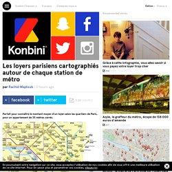Les loyers parisiens cartographiés autour de chaque station de métro