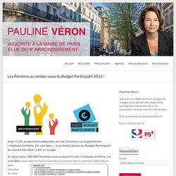 Les Parisiens au rendez-vous du Budget Participatif 2015 ! - Pauline Véron