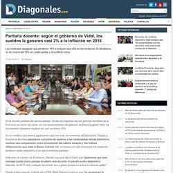Paritaria docente: según el gobierno de Vidal, los sueldos le ganaron casi 2% a la inflación en 2016 - Provincia
