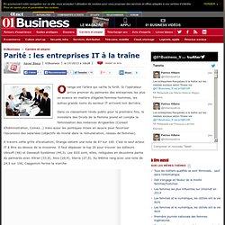Parité : les entreprises IT à la traîne